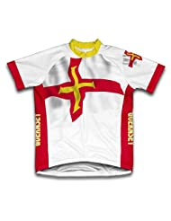 Guernsey Flag Short Sleeve Cycling Jersey for Women