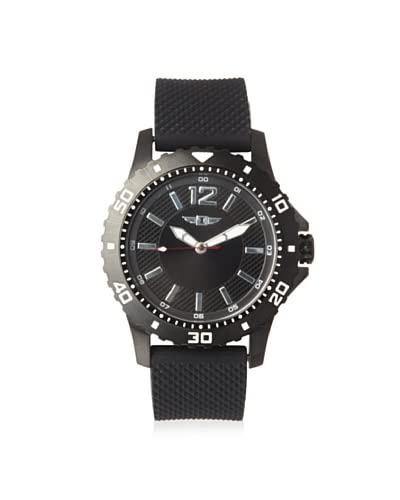I by Invicta Men's 10008-004 Black/Black Textured Silicone Watch As You See
