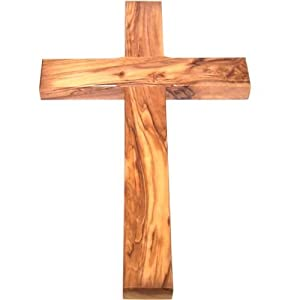 Amazoncom Olive Wood Cross Simple Christian Wall Crosses