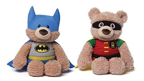 Gund DC Comics Batman and Robin Plush Bears