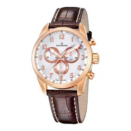 Candino Reloj de piel, color marrón
