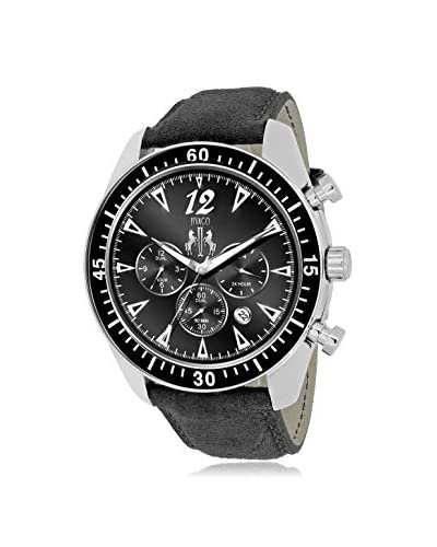 Jivago Men's JV4511 Timeless Black Leather Watch