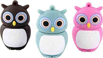 4GB Baby Owl Blue USB 2.0 High Speed Silicon Flash Memory Drive Disk Stick Pen Support Windows and MacOS Great Gift from EASYWORLD