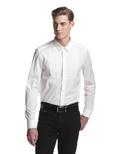 Versace Jeans Men's Bibbed Long Sleeve Woven Shirt