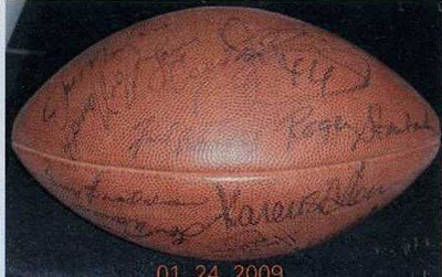 Bart Starr Autographed Football Autographed Football Bart