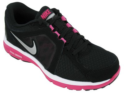 Nike Dual Fusion Women s Running Shoes 525752-001 Black Fireberry Silver 0626e269a