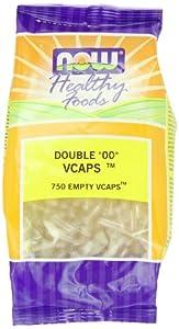 "Now Foods Veg-Capsules Double ""00"" Empty Capsules, 750-Count"