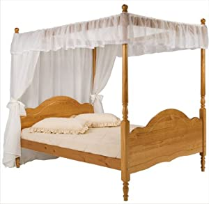 Pine Four Poster Bed Frame King Size 5ft Veneza Princess