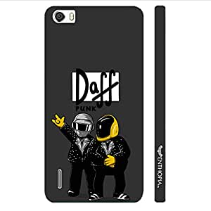 Huawei Honor 6 Daff Punk Black designer mobile hard shell case by Enthopia