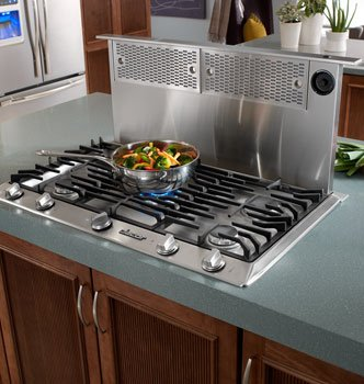 """Renaissance Epicure 30"""" Downdraft Range Hood With Easy-To-Clean Filters Infinite Blower Speed Control & In Stainless front-554397"""
