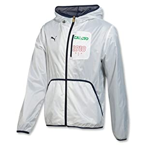 Puma Mens Italia Windbreaker Jacket, Medium, White