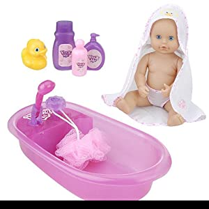 you me 12 inch baby doll bath tub toys games. Black Bedroom Furniture Sets. Home Design Ideas