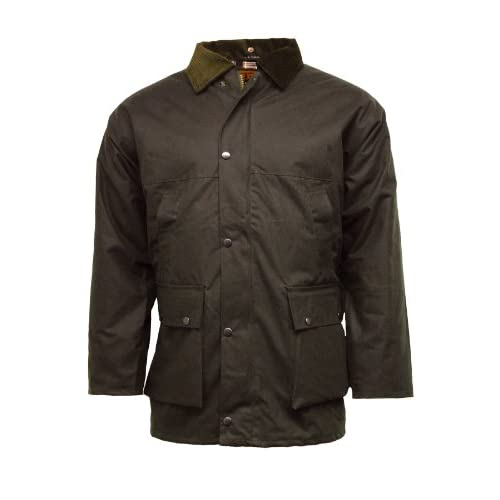 New British Quilted Padded Country Wax Cotton Rain <strong>Jacket