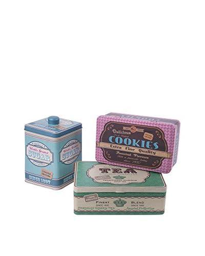 Merry Christmas Set Caja 3 Uds. Vintage Tea Time Decoro Vintage