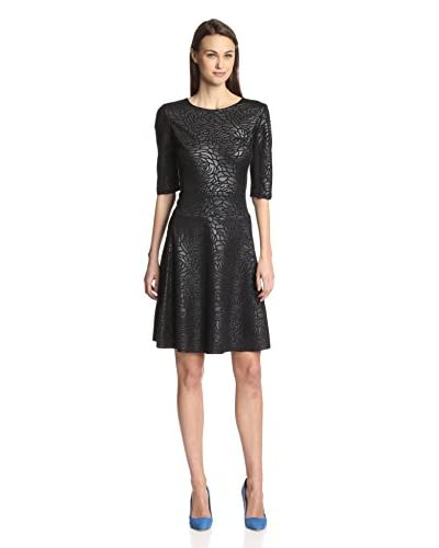 Melissa Masse Women's 3/4 Sleeve Pleather Dress