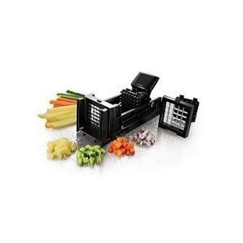 Easycook Gemüseschneider für Gemüsewürfel und Gemüsestifte, 24 cm Länge, z.B. Pommesschneider, inklusive 2 Einsätzen