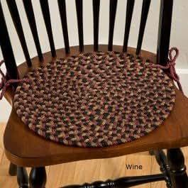 Sturbridge Braided Chair Pad Wine Chair Pad Home Kitchen