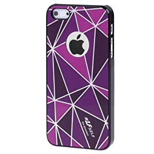 Apple iPhone 5 Stylish And Flexible Hard Skin Case With Clear Screen Protector - PURPLE