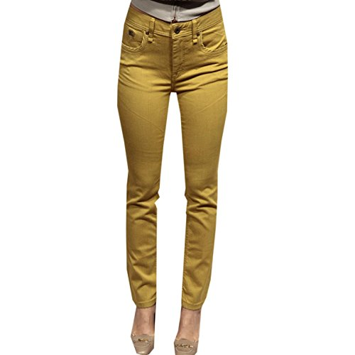 65704 pantaloni BURBERRY BRIT BELSIZE SLIM CROPPED jeans donna trousers [27]