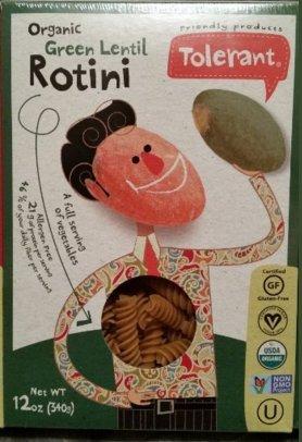 Tolerant Organic Non GMO Rotini (Green Lentil) 6-pack (Green Lentil Pasta compare prices)