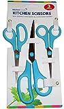 Kitchen Corner - 3 Pack of Kitchen Scissors Stainless Steel Blades (Blue)