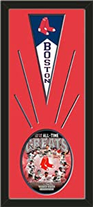 Boston Red Sox Wool Felt Mini Pennant & Boston Red Sox All Time Greats Composite... by Art and More, Davenport, IA