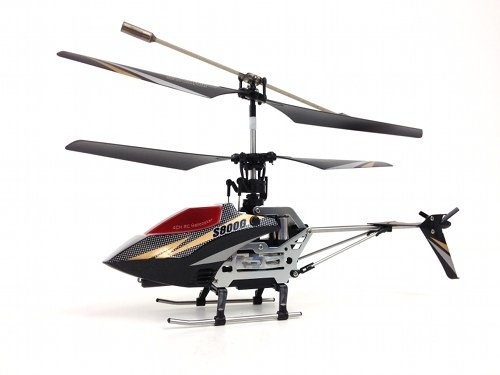 Syma S800G 4 Channel Remote Control Helicopter with Bonus Parts - Black & White (Syma Helicopter Outdoor compare prices)