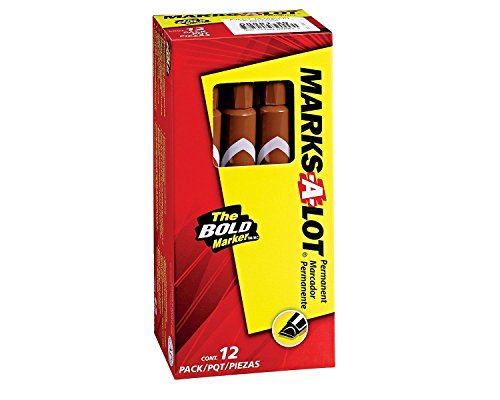 marks-a-lot-large-chisel-tip-permanent-marker-brown-box-of-12-8881