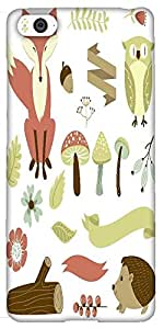 Snoogg Autumn Forest Solid Snap On - Back Cover All Around Protection For Xia...
