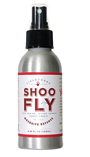 Mosquito Defense DEET-Free Spray, Natural Essential Oils Repel Mosquitos and Bugs. Organic-Safe-Guaranteed, Shoo Fly Brand