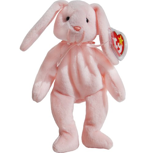 Hoppity the Pink Bunny Rabbit - MWMT Ty Beanie Babies - 1