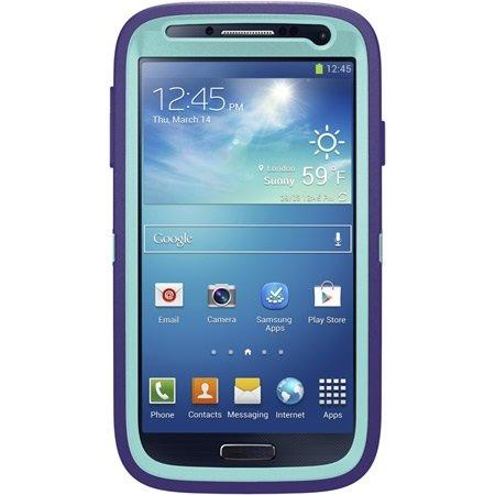Otterbox Defender Series For Samsung Galaxy S4 - Retail Packaging - Violet Purple / Aqua Blue