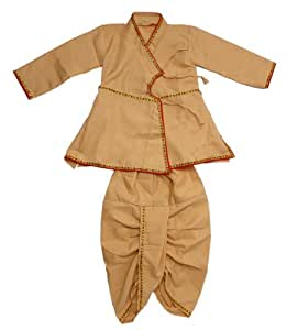 Traditional angarkha kurta with dhoti for baby boy cream color (16 mths baby) - MA