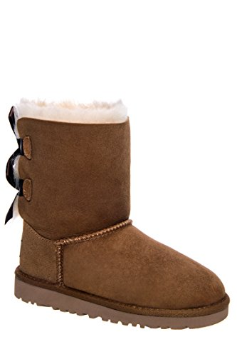 UGG Australia Girls Bailey Bow Boot, Chestnut,