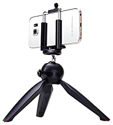 YunTeng YT-228 Mini Tripod Mount + Phone Holder Clip Desktop Self-Tripod for Mobile Phones and Digital Camera