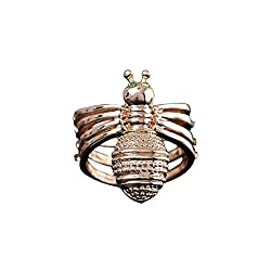 Happy M Women's Cute Little Bee Scarf Clip Ring