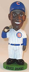 Ernie Banks Chicago Cubs AGP Bobble Dobbles Bobblehead Doll Serial Numbered # 1101 by Bobble Dobbles
