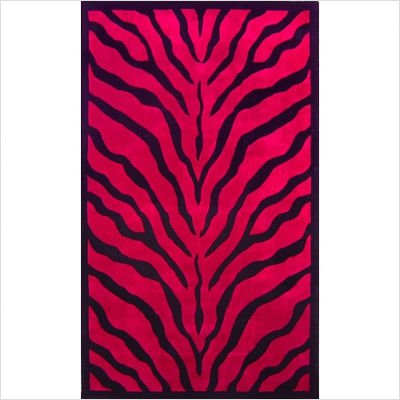 African Safari WK002 Zebra Print Red / Black Rug Size: 8' x 11'