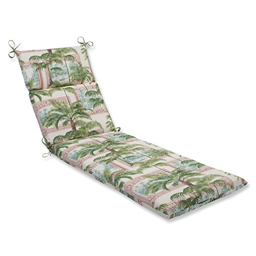Pillow perfect outdoor key biscayne chaise lounge cushion for Chaise lounge cover pattern