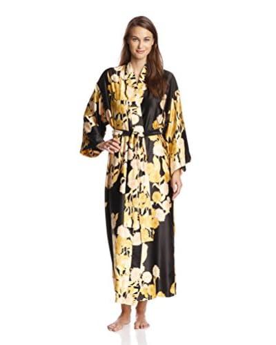 Natori Women's Irina Printed Satin Long Robe