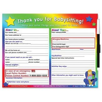 Kenson Kids Babysitter List Toy
