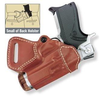 Gould & Goodrich 806-195LH Gold Line Small Of Back Holster - Left Hand (Chestnut Brown) Fits most 1911-type pistols with 4