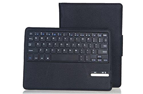 iPad Air/Air2 キーボード 取り外し可能 Bluetooth Keyboard(ブルートゥースキーボード)PUレザーケース カバー付日本語説明書VITRAY