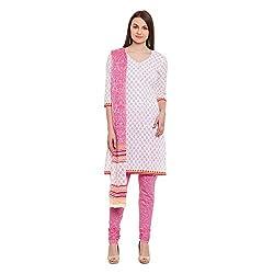 Pinkshink Womens Cotton Unstitched Dress Material (Psk31 _Pink)