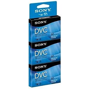 Sony DVM60PRR3, Premium MiniDV Video Cassette, 60 Min-90 Min, 3/PK