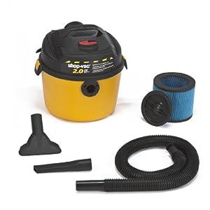 Shop-Vac 5860210 2.0-Peak Horsepower Portable Right Stuff Wet/Dry Vacuum, 2.5-Gallon