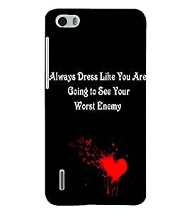 PRINTSHOPPII QUOTES Back Case Cover for Huawei Honor 6