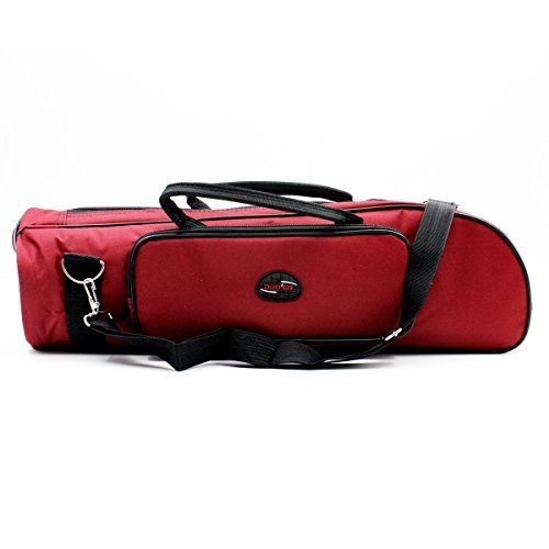 Nylon Trumpet Bag Soft Case Cover Portable Dual Purpose Gig Bag Red Musical Instrument Brass Accessories