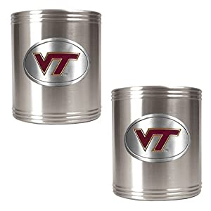 GAP NCAA College Virginia Tech Hokies Sports Team Logo 2pc Stainless Steel Decorative... by Great American Products