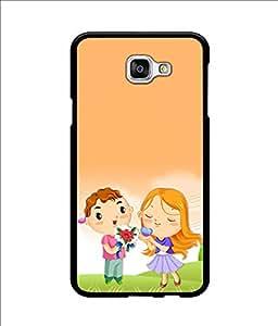 Crazymonk Premium Digital Printed Back Cover For Samsung Galaxy A9